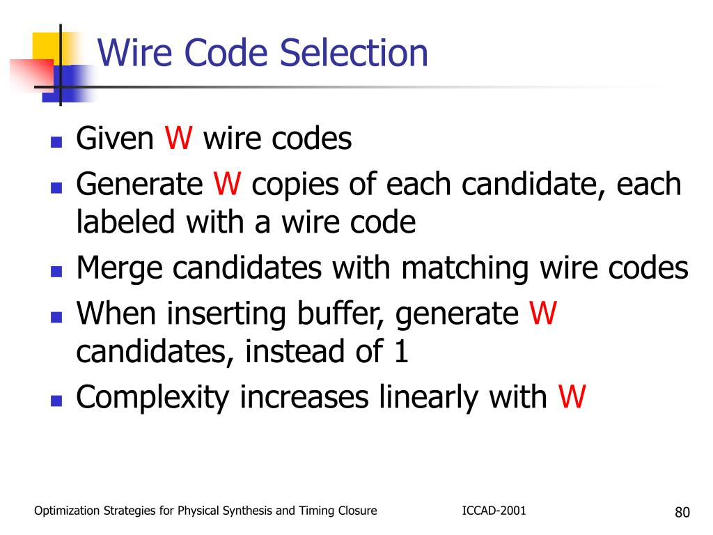 Wire Code Selection