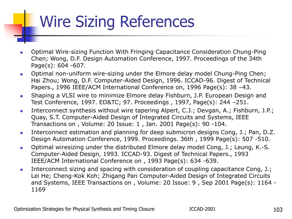 Wire Sizing References