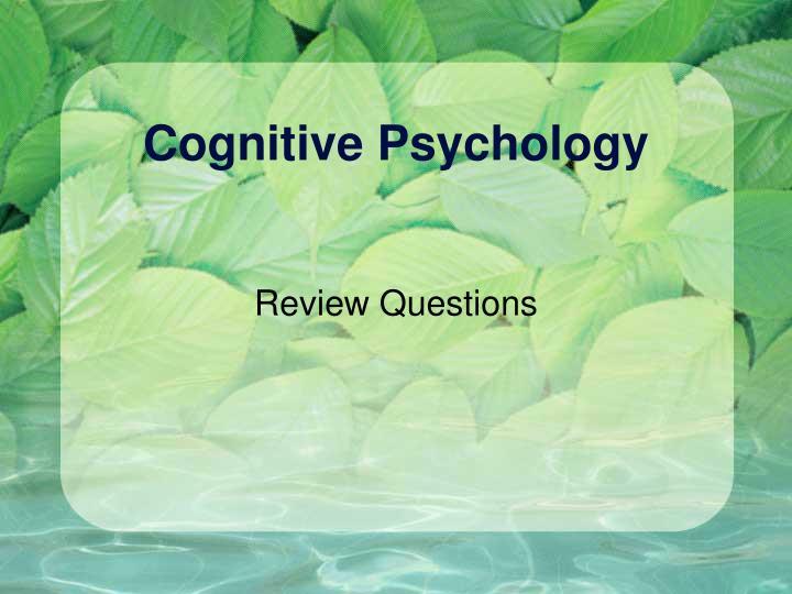 cognitive psychology n.