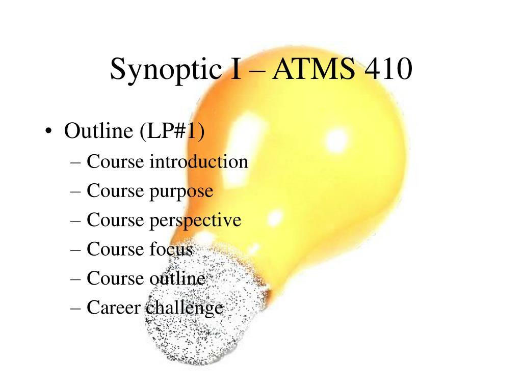 synoptic i atms 410 l.