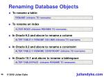 renaming database objects