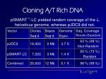 cloning a t rich dna10