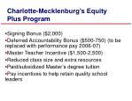 charlotte mecklenburg s equity plus program