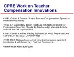 cpre work on teacher compensation innovations