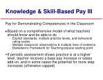 knowledge skill based pay iii
