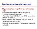 teacher acceptance is important