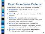 basic time series patterns