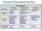 demand forecasting summary