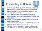 forecasting at unilever