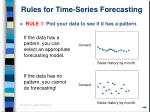 rules for time series forecasting