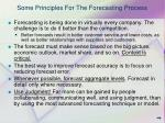 some principles for the forecasting process