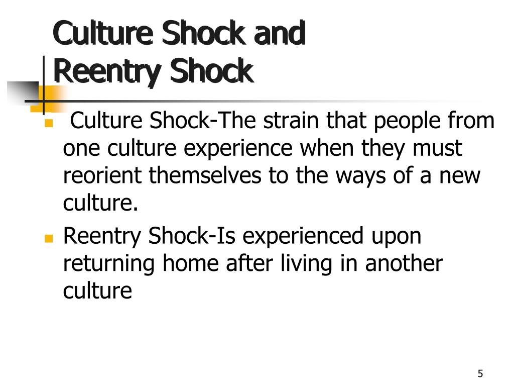 Culture Shock and