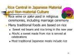 rice central in japanese material and non material culture