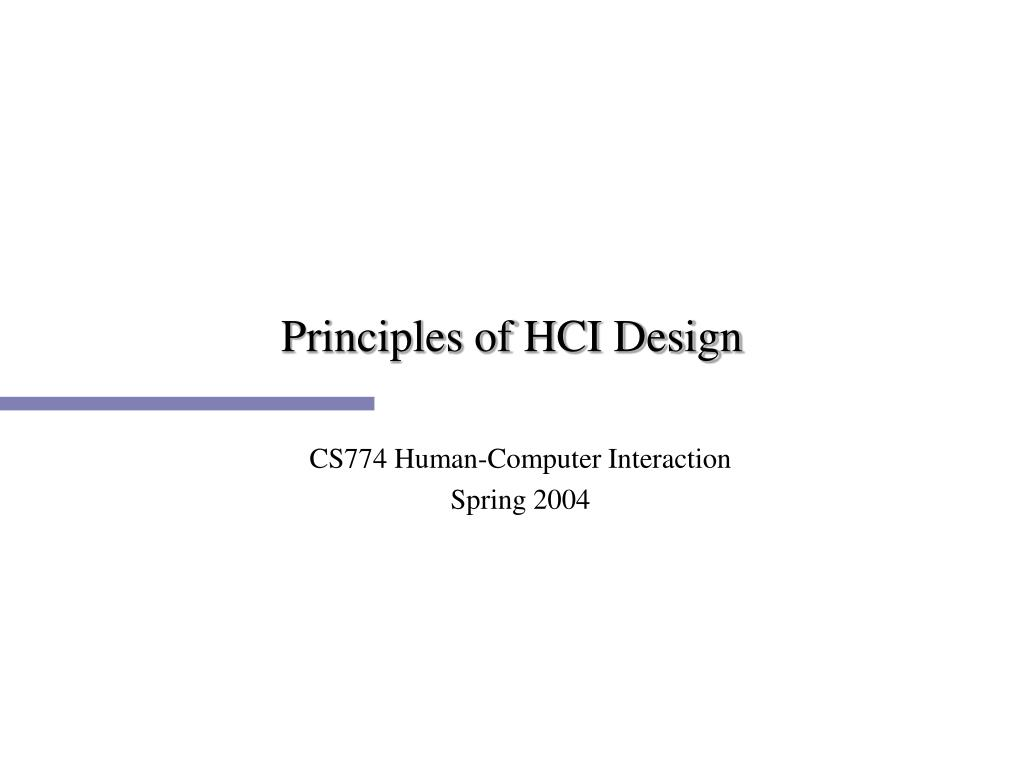 principles of hci design l.