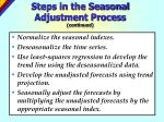 steps in the seasonal adjustment process continued