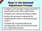 steps in the seasonal adjustment process