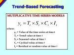 trend based forecasting29