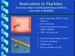 innovations in machines courtesy of dr g jewell and professor d howe university of sheffield