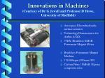 innovations in machines courtesy of dr g jewell and professor d howe university of sheffield28