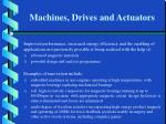 machines drives and actuators