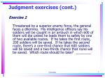 judgment exercises cont