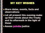 my key wishes