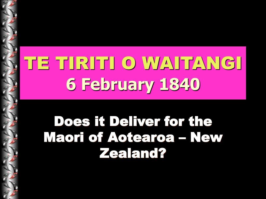 te tiriti o waitangi 6 february 1840 l.