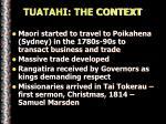 tuatahi the context