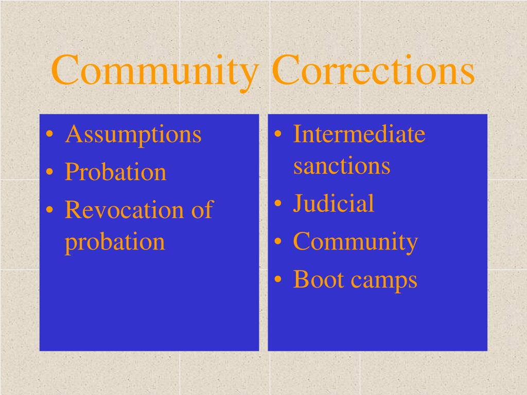 community corrections l.