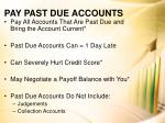 pay past due accounts