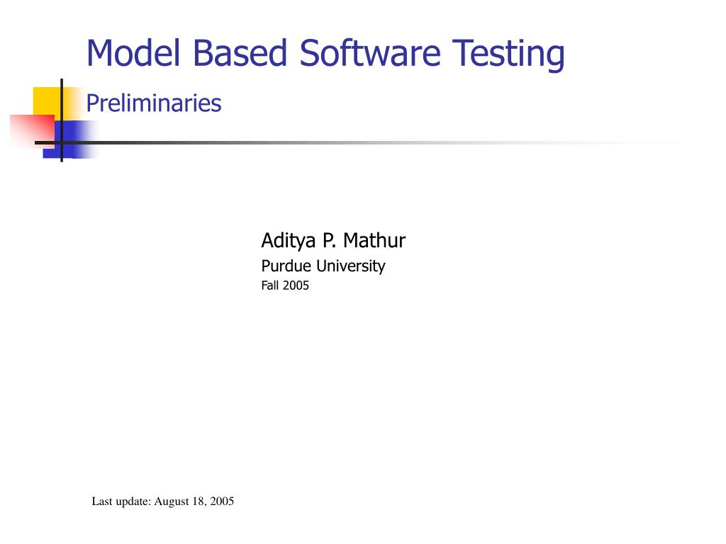 model based software testing preliminaries l.
