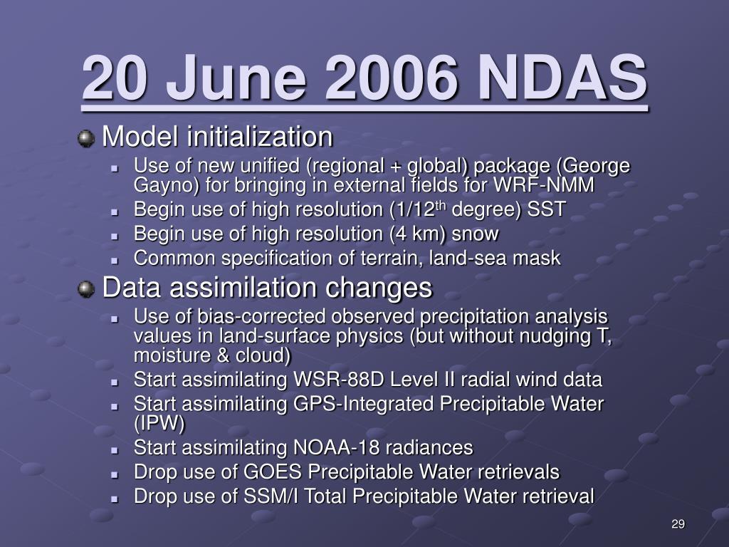 20 June 2006 NDAS