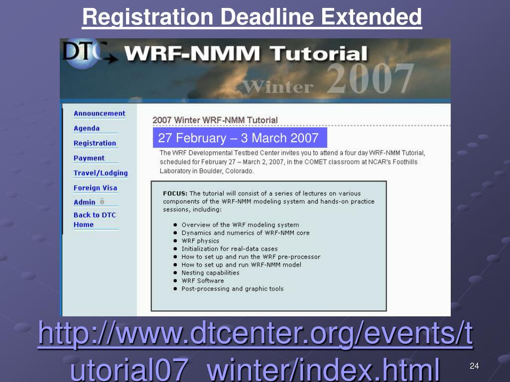 Registration Deadline Extended