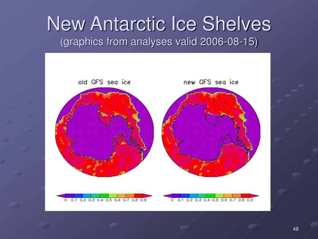 New Antarctic Ice Shelves