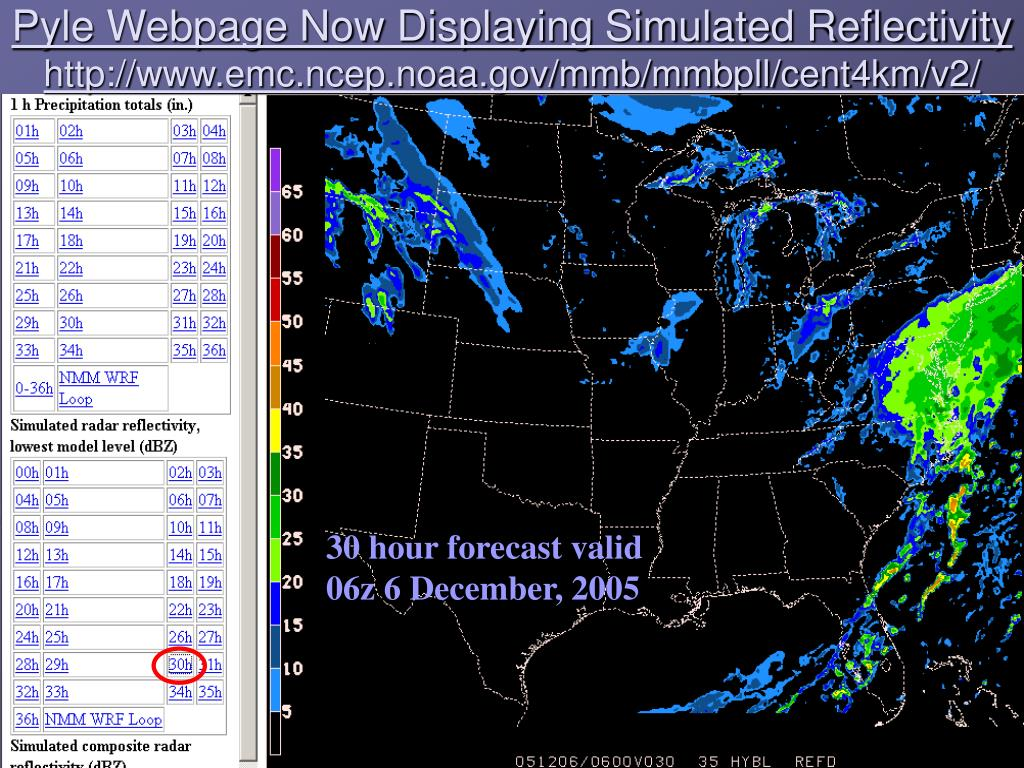 Pyle Webpage Now Displaying Simulated Reflectivity