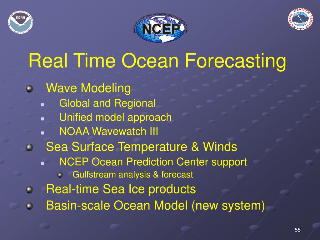 Real Time Ocean Forecasting