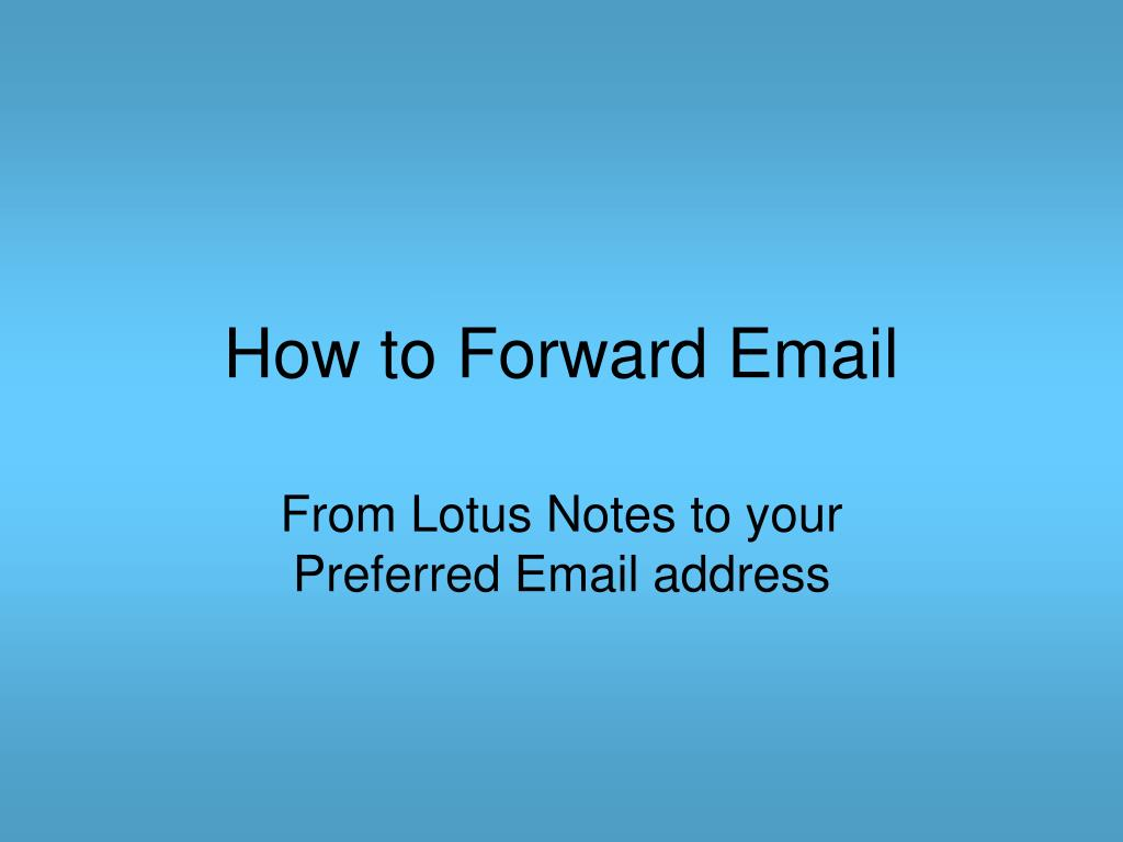 how to forward email l.