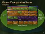 microsoft s application server tomorrow