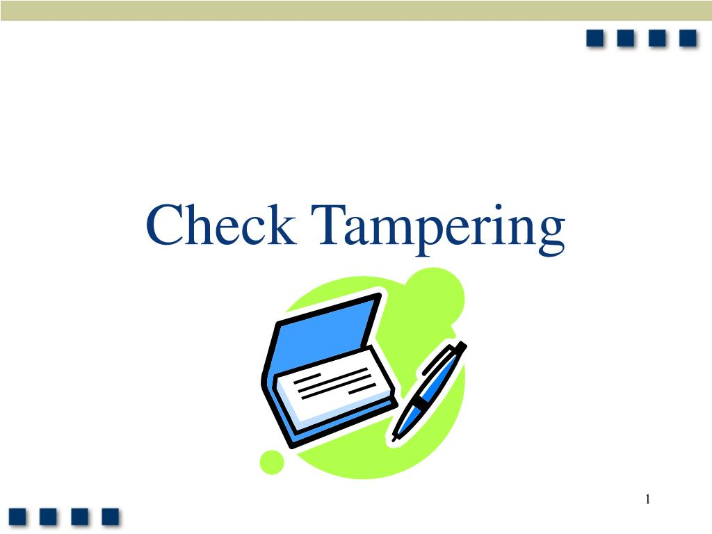 check tampering l.