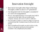 innovation foresight