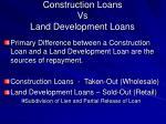 construction loans vs land development loans