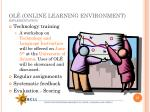 ol online learning environment implementation