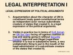 legal interpretation i