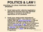 politics law i