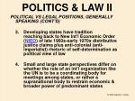 politics law ii