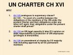 un charter ch xvi