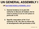 un general assembly i