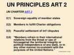 un principles art 2