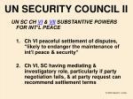 un security council ii