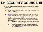 un security council iii